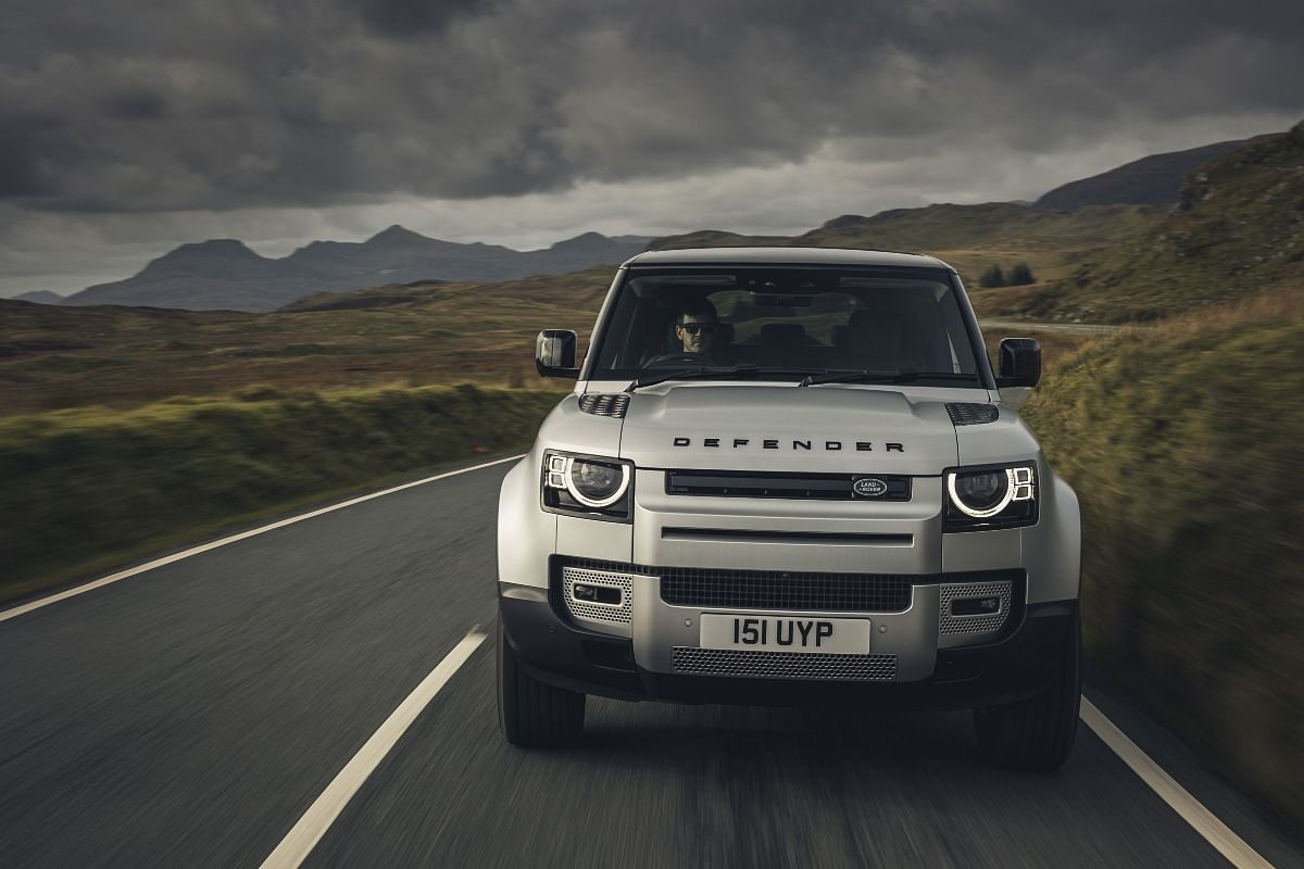 Originally known as the Land Rover Ninety, the Defender has been in production since 1983 (Pictured is the ICE-powered Defender)