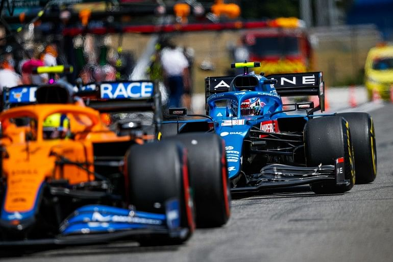 Esteban Ocon had a difficult race and couldn't achieve a competitive race pace