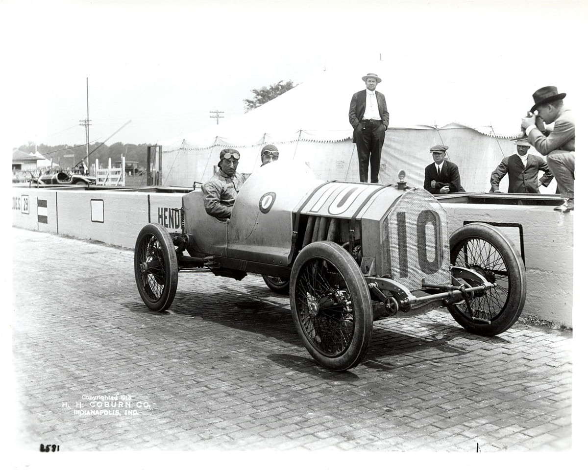 The Indy 500 circuit was laid with bricks to allow for better racing