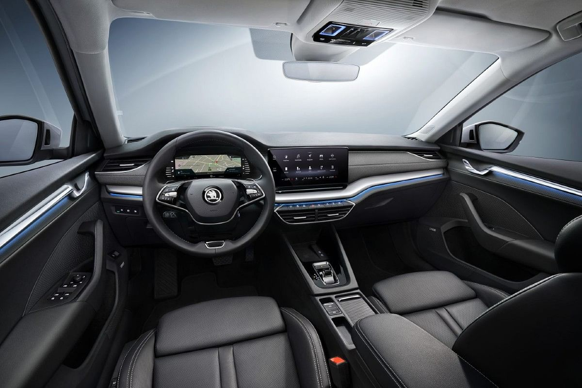 Two-spoke steering wheel looks rather cool