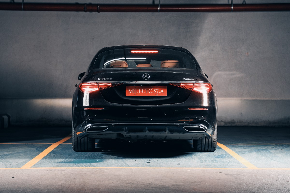 The rear end features horizontally set LED tail lights.