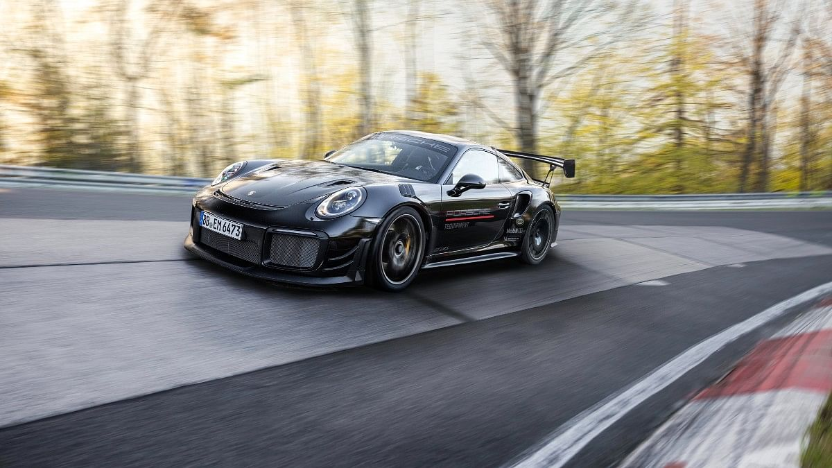 This kitted-out Porsche 911 GT2 RS sports road-legal Michelin Pilot Sport Cup 2R tyres