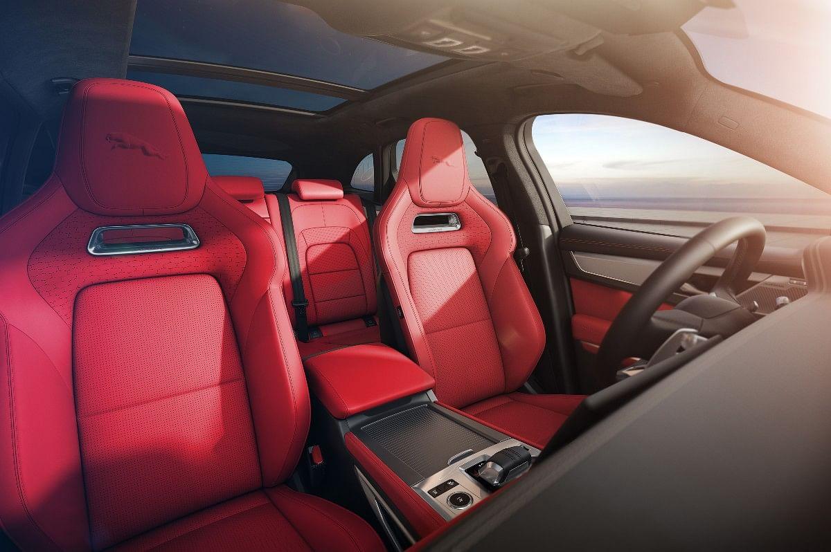 Interior of the Jaguar F-Pace