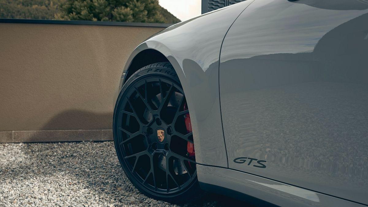 These stunning dark alloys wear 20-inch Pirelli PZeros on the front