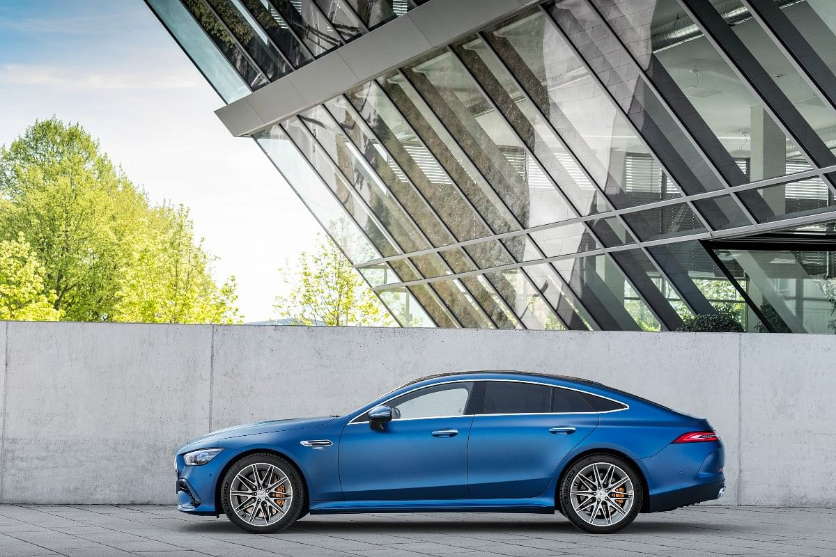 The Mercedes-AMG GT 4-Door Coupé can now accommodate five people