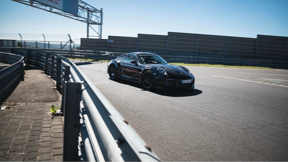 Porsche test driver Lars Kern says the 911 GT2 RS sticks to the track like glue