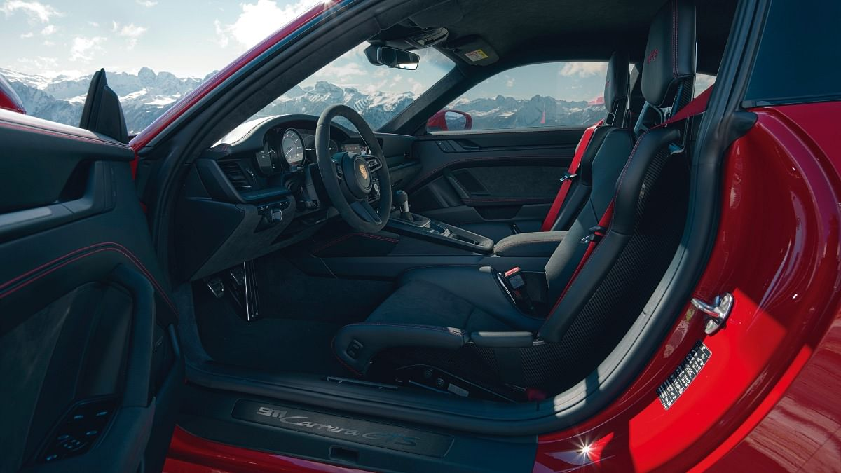 Regular sports seats will be swapped out for lighter CFRP buckets if you opt for the Lightweight Design Package
