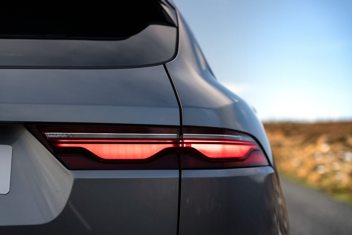 Rear lights with double chicane graphic