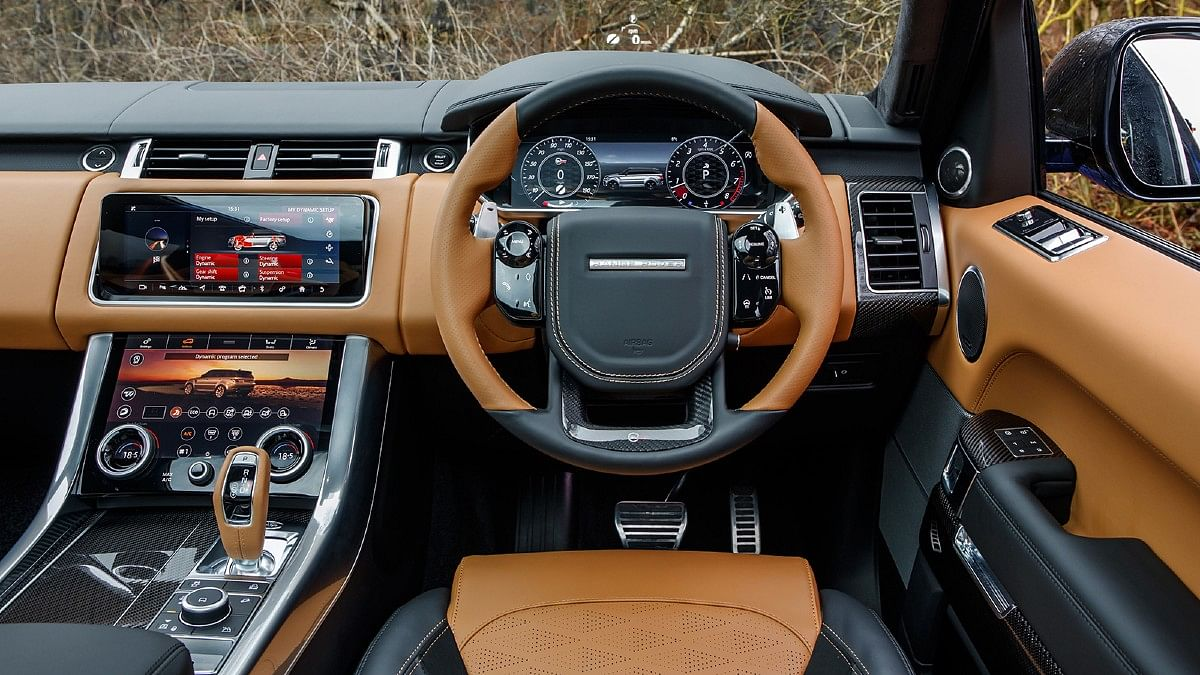 Two-tone leather trim for the interiors in the SVR