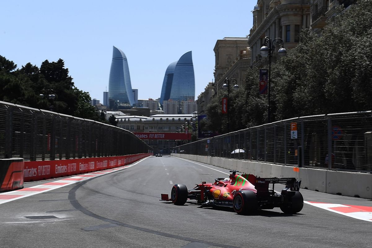 Charles Leclerc claims pole at dramatic qualifying session at the Azerbaijan GP