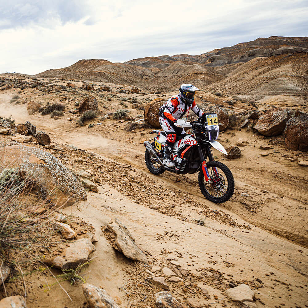 The sand proved to be challenging for the Hero riders