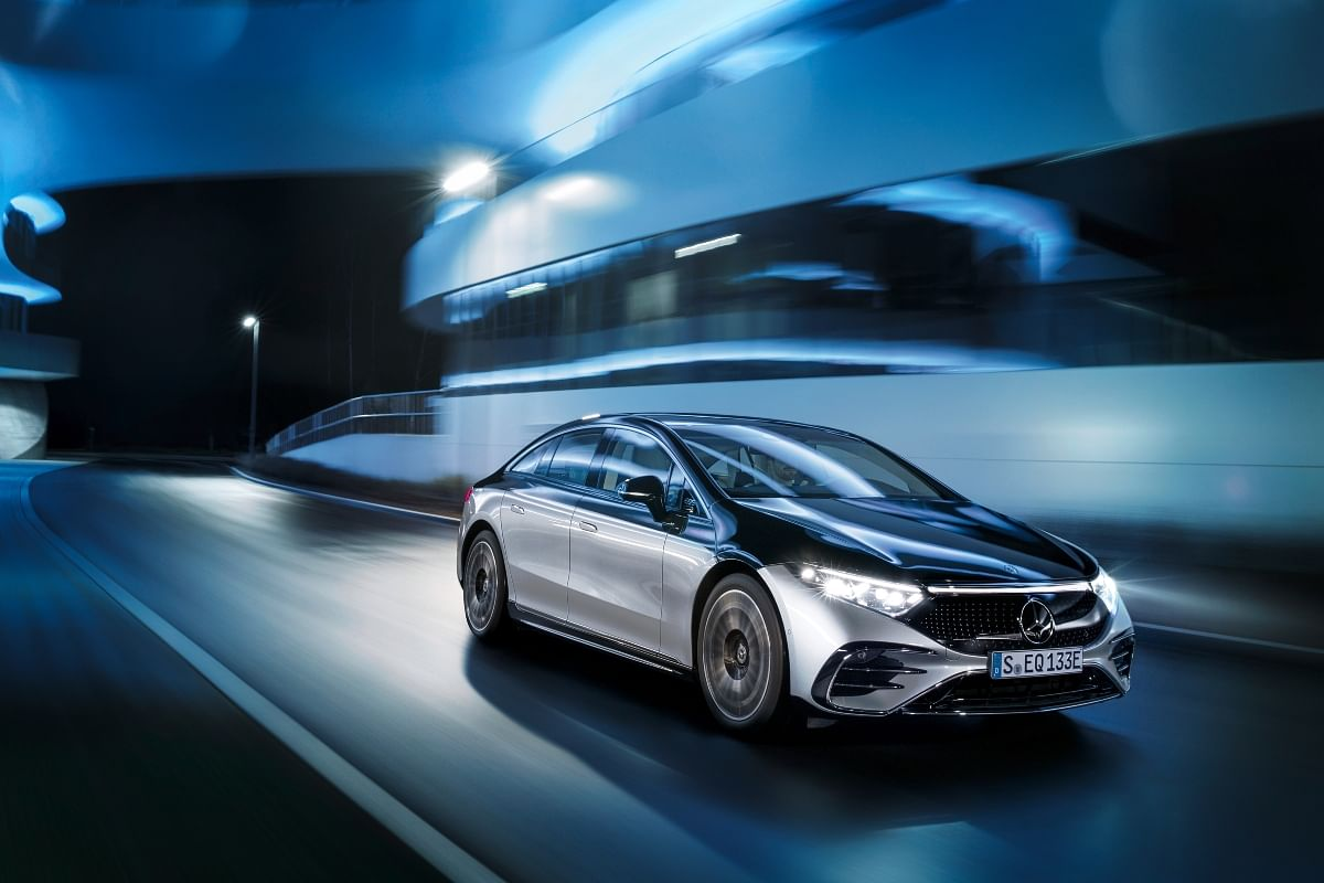 The Mercedes Benz EQS is Mercedes' all electric-S Class