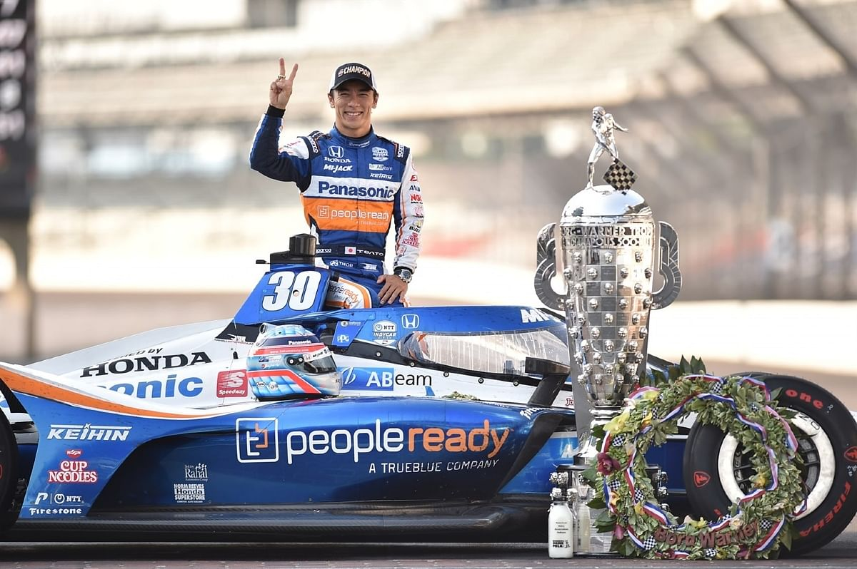 The Indy 500 trophy is quite big when compared to any Formula 1 trophy