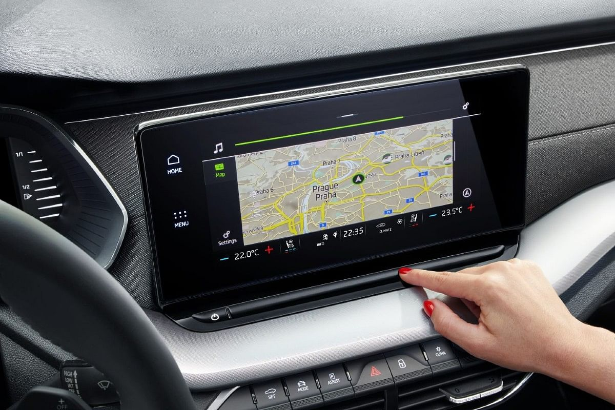 New infotainment screen is large