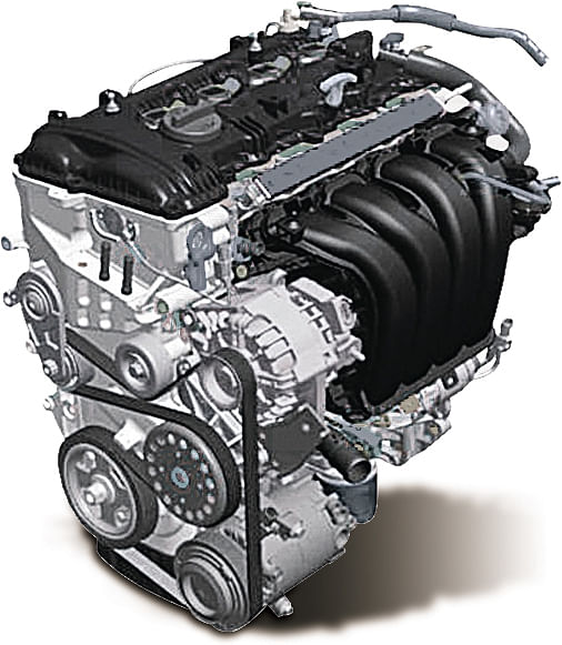 2-litre MPI petrol engine is borrowed from Tuscon