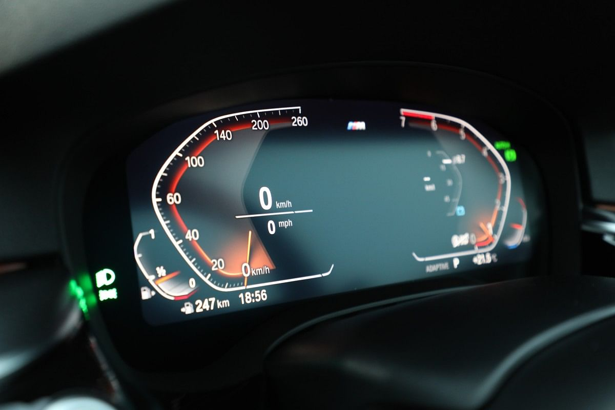 The 12.3-inch digital instrument cluster is standard on all new 5 Series variants