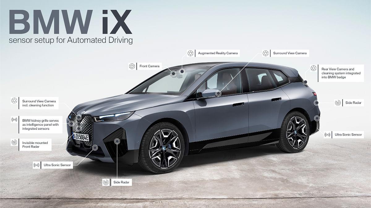 List of the sensors on the iX