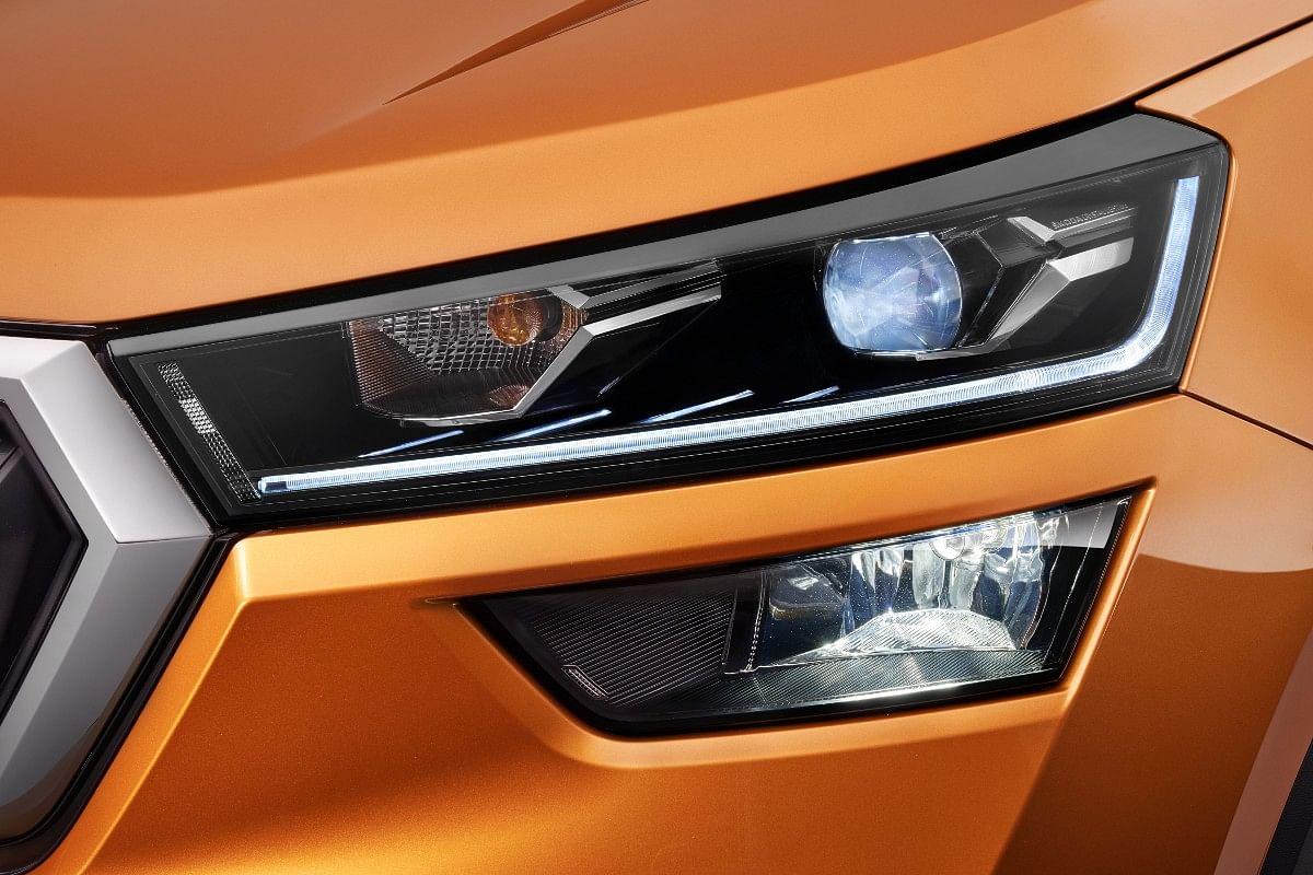The Skoda Kushaq gets a split headlight design
