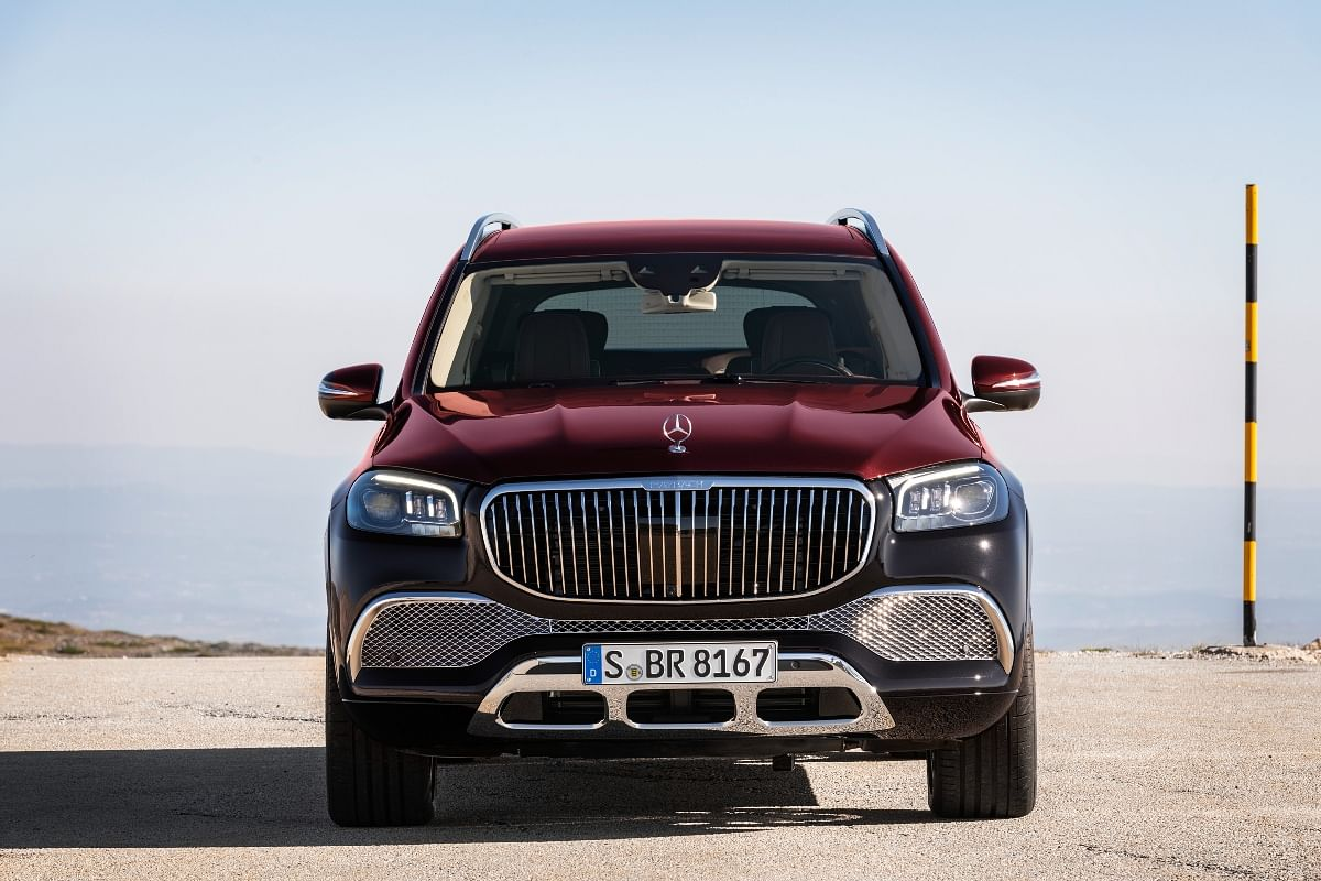 The massive chrome-finished grille and the underguard below the bumper manage to give the GLS 600 a menacing yet luxurious appeal.