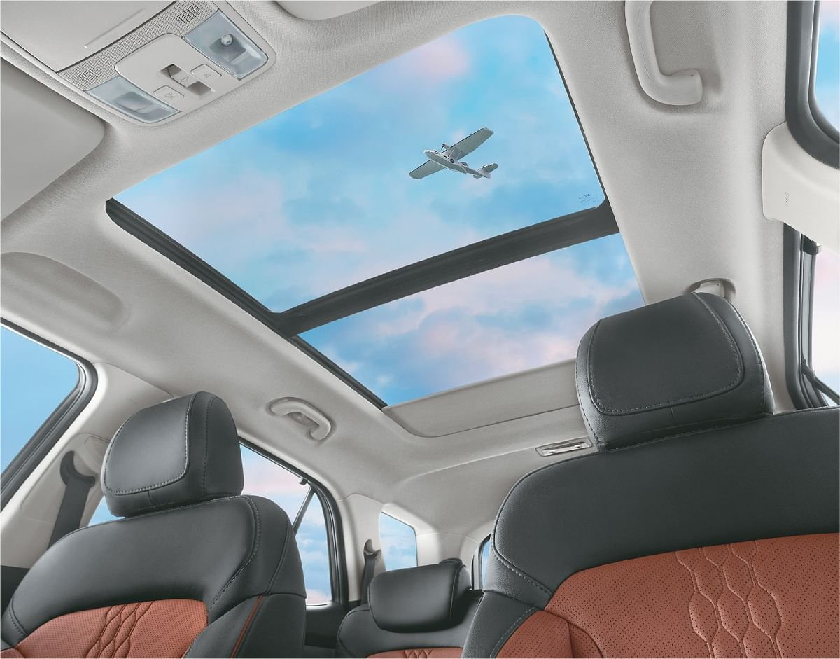 Features including voice enabled panaromic sunroof