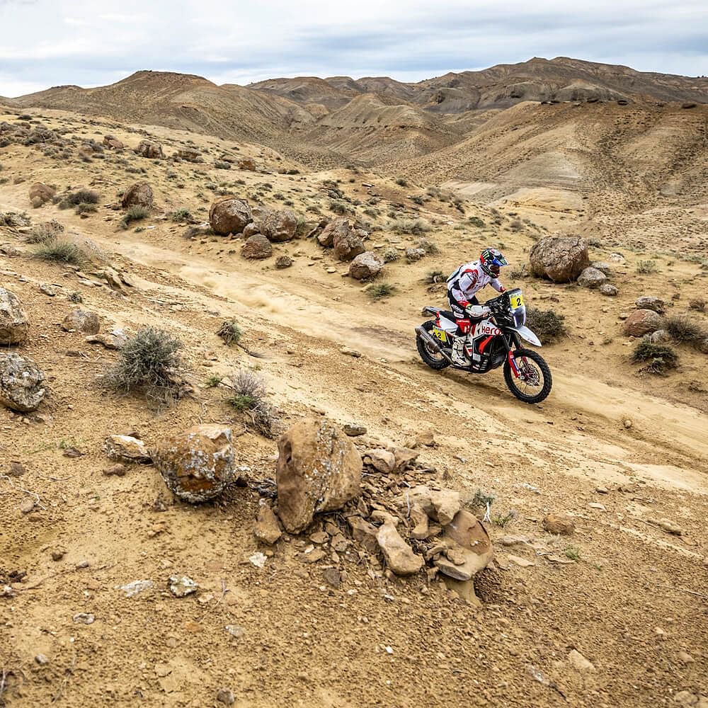 Hero MotoSports Team Rally riders finishes inside top 10 in Stage 4 of the Kazakhstan Rally