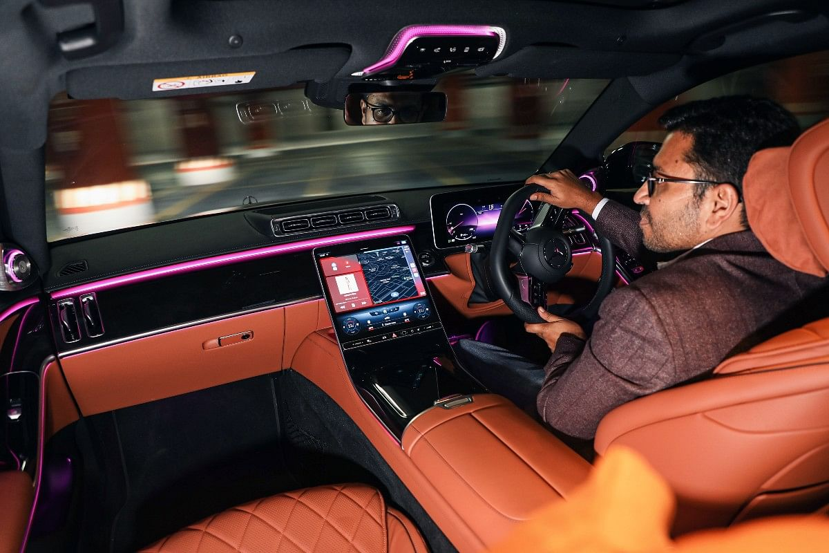 The rear-wheel steer makes the S-Class much easier to drive in traffic