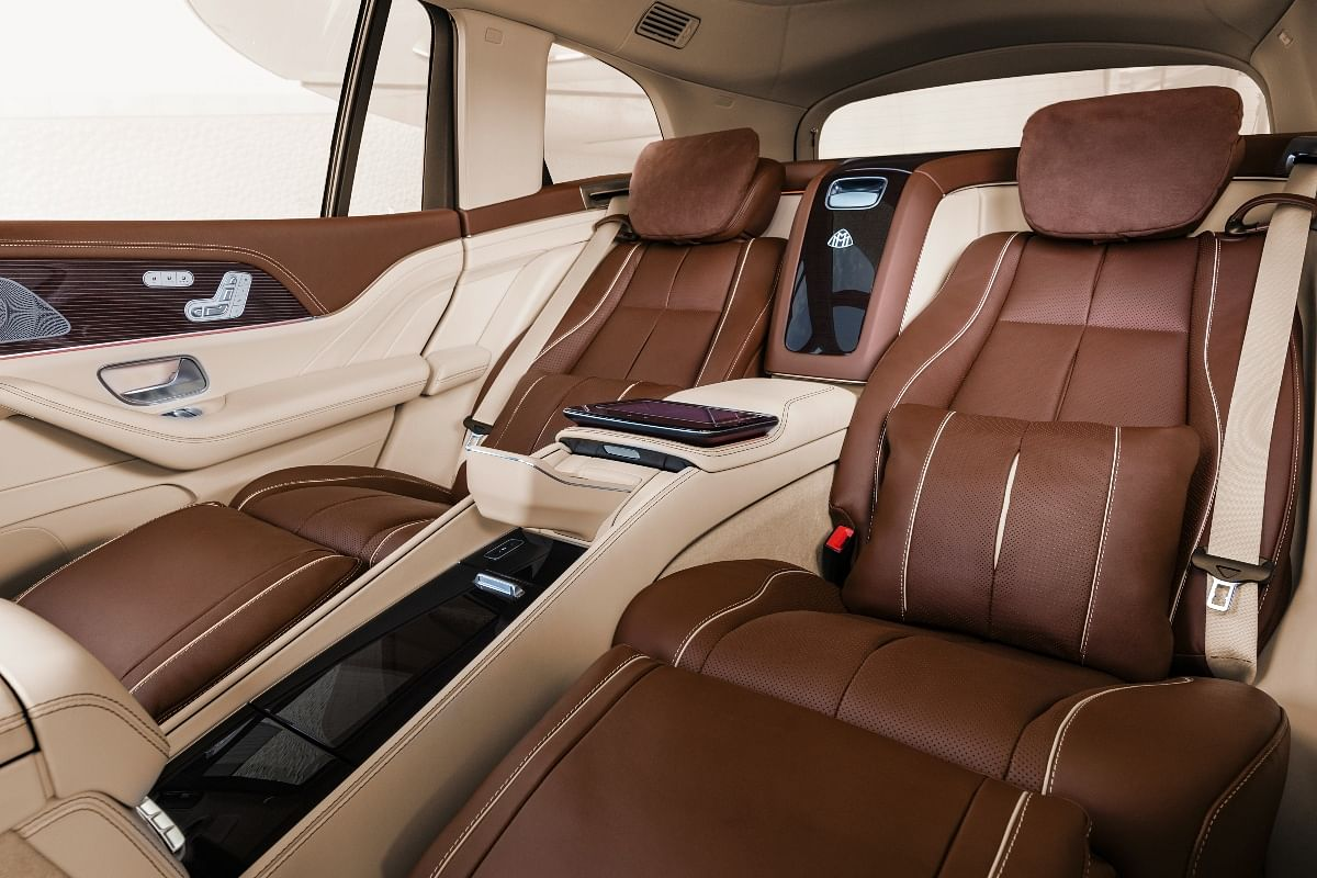 Recliner seats upholstered with Napa leather available as standard on the Maybach GLS 600