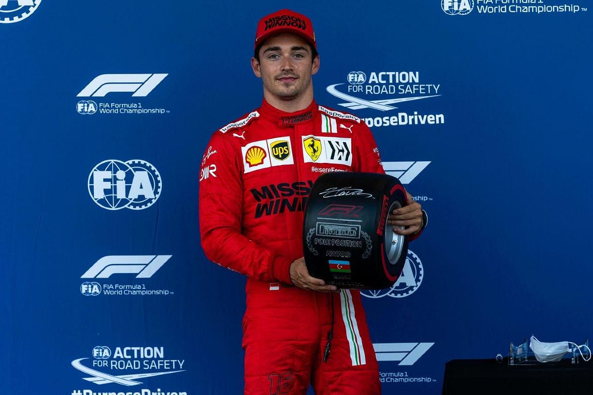Charles Leclerc on pole for Sunday for Azerbaijan GP
