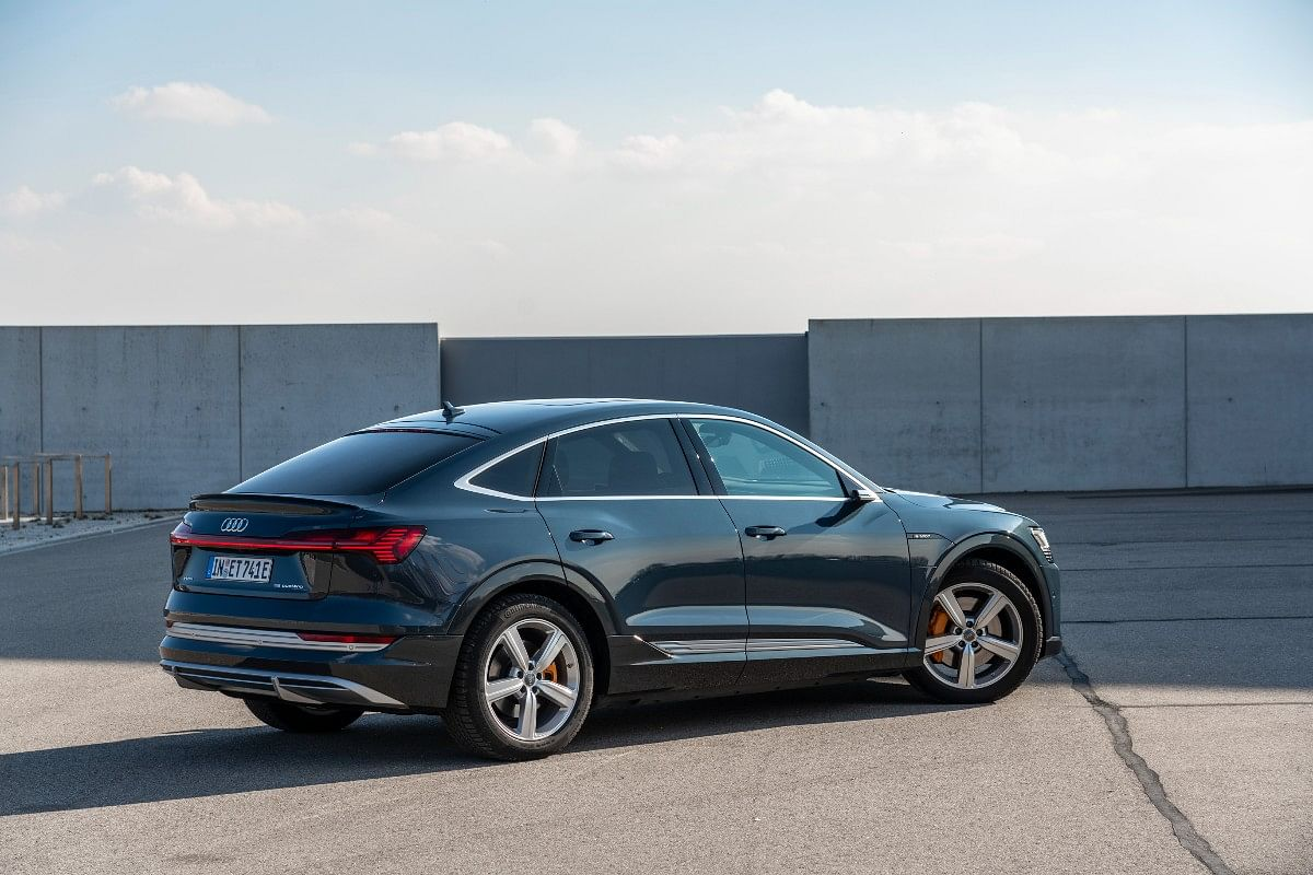 The e-tron Sportback gets a sloping roof