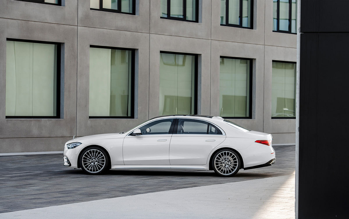 Wheelbase of the new S-Class has grown by 55mm