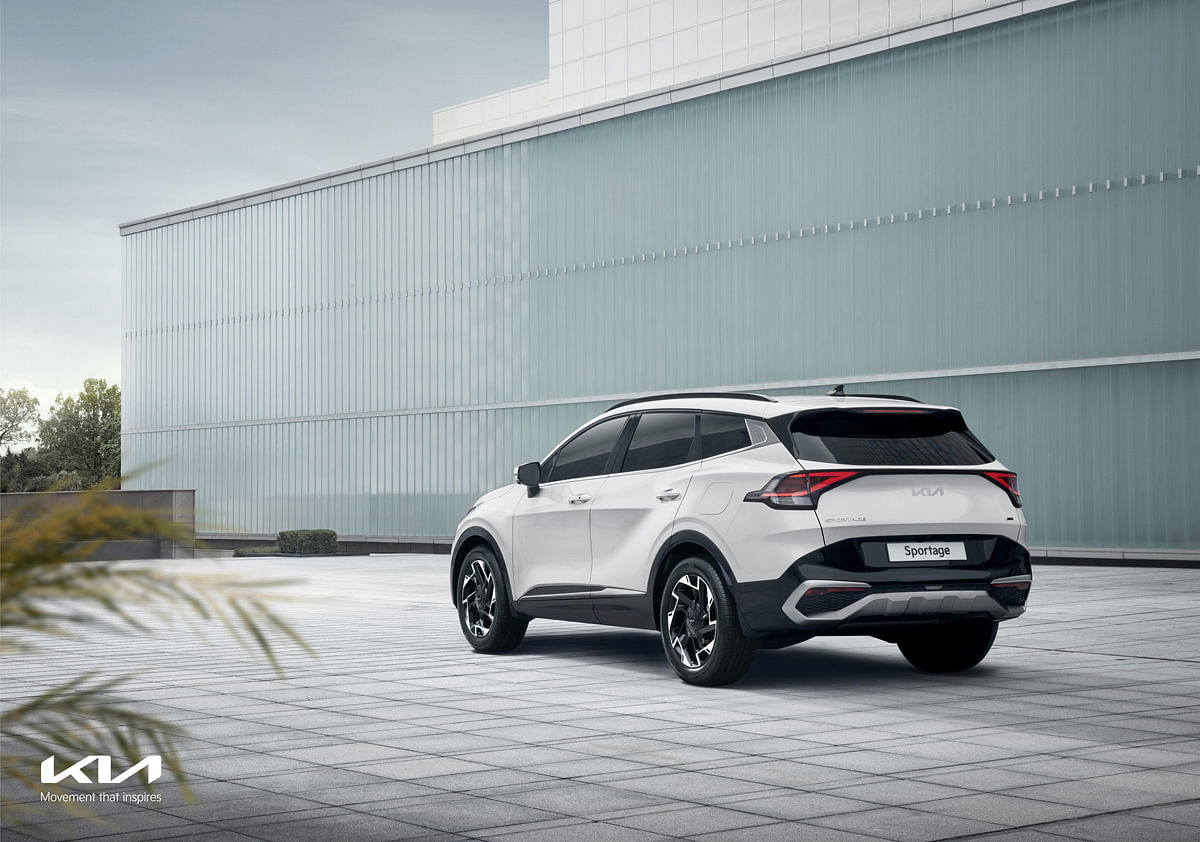 Short overhang at the rear of the Kia Sportage