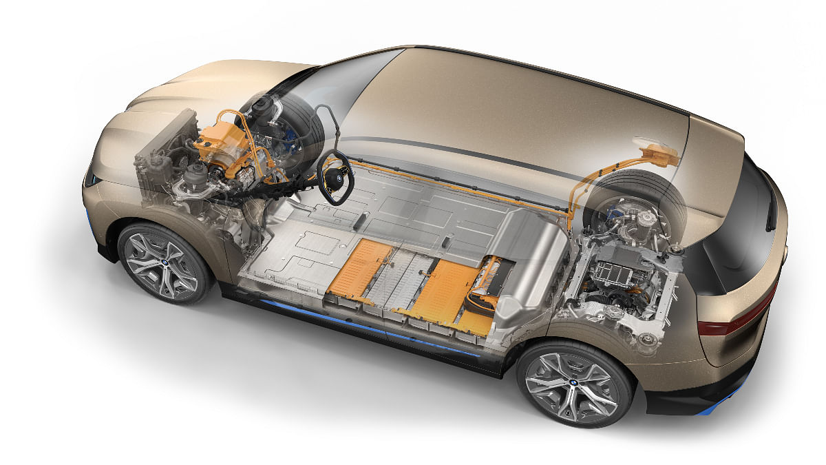 The battery is packed in the floor for improved driving dynamics