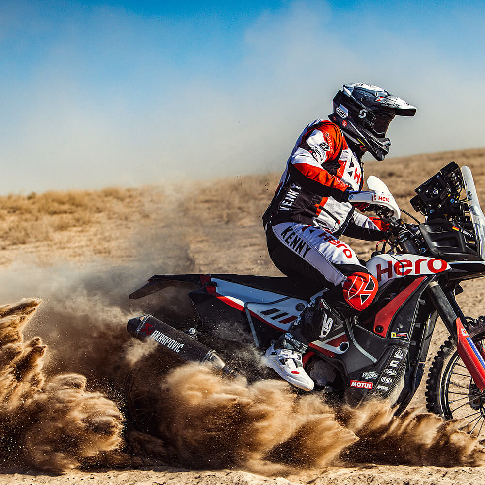 Hard and soft terrain made for tricky riding
