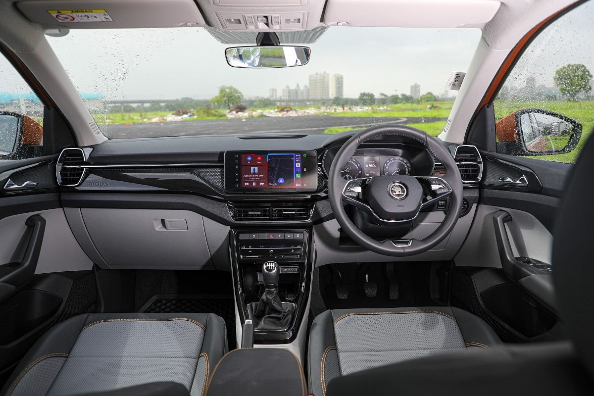 Overall, the cabin feels premium and at par with with what you'd expect from a Skoda