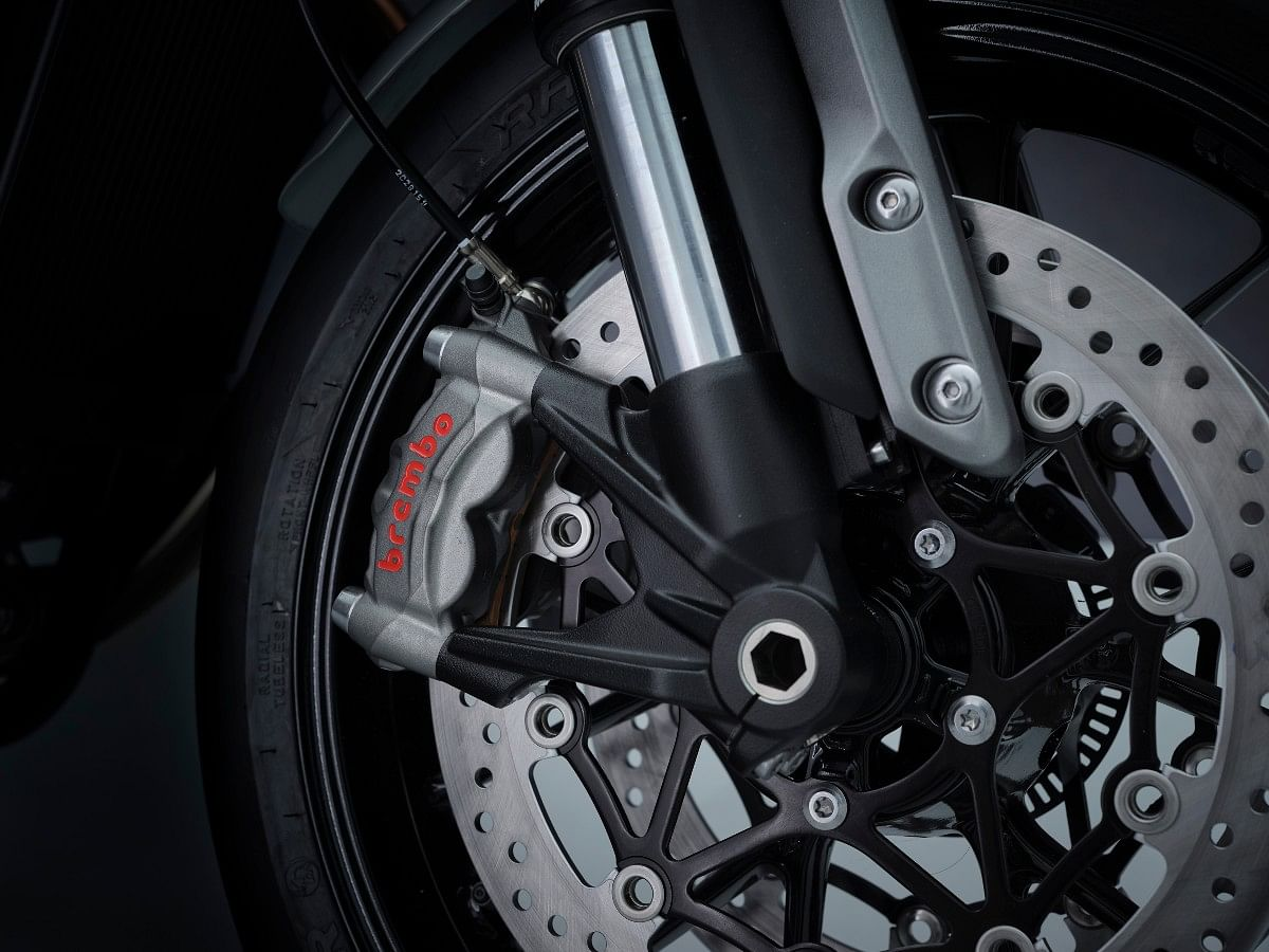 The 2021 Triumph Speed Twin gets Marzocchi USDs and Brembo M50 brakes