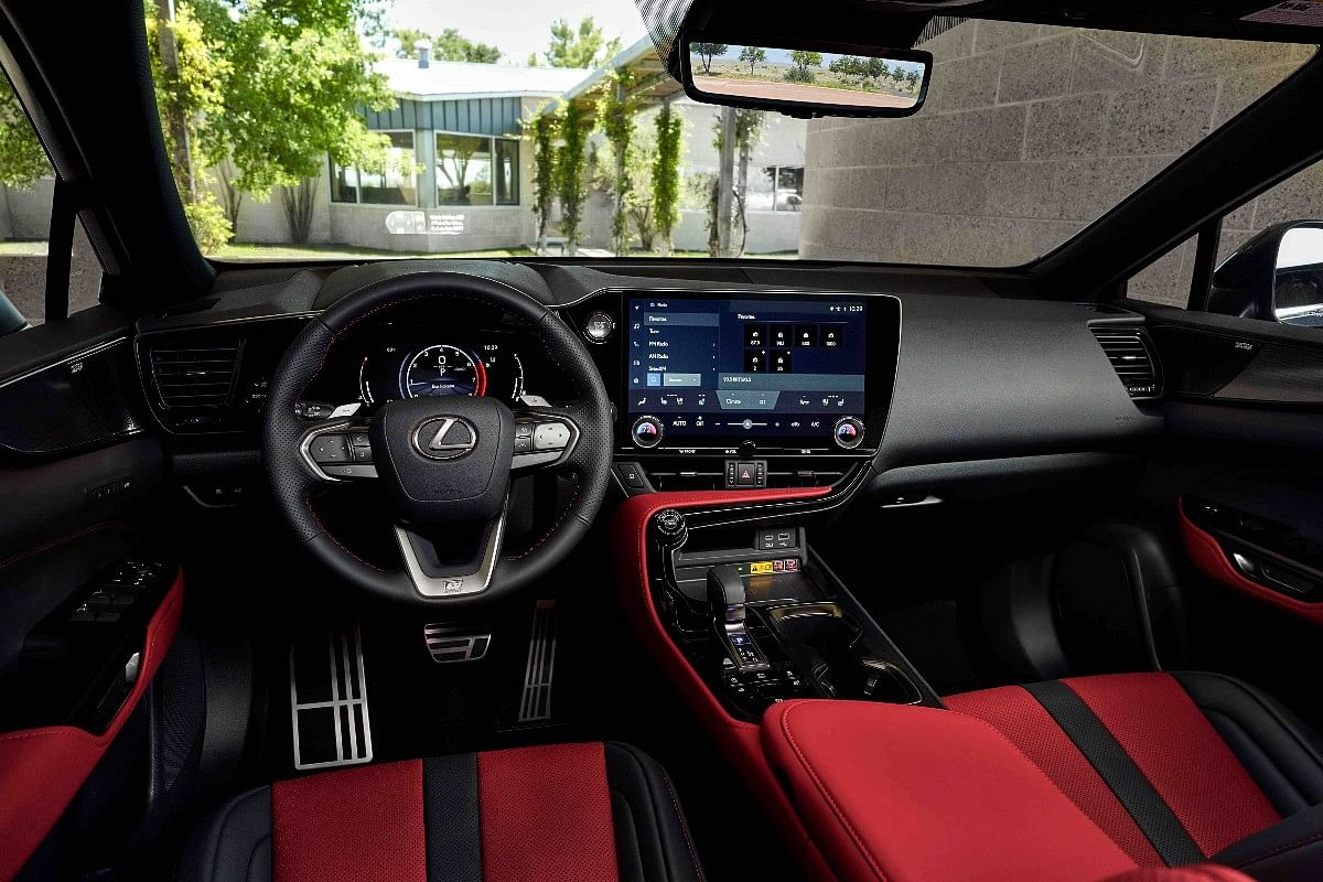 The interiors of the NX with the new infotainment system