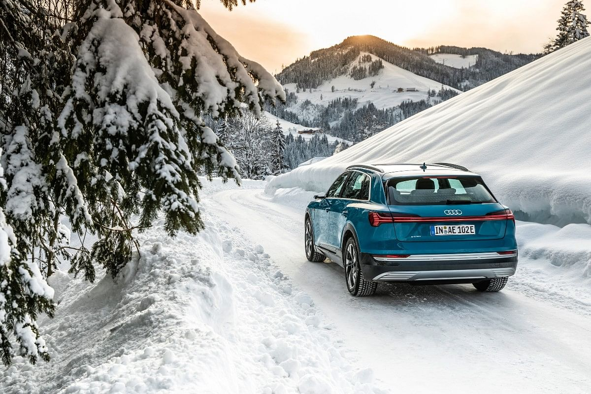 The e-tron is more than capable off the road as well