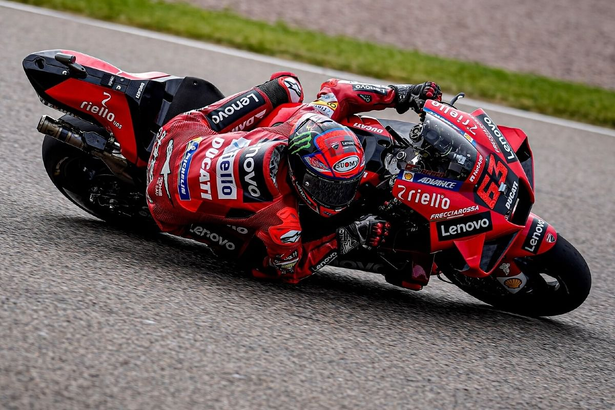 Bagnaia was moving through the field towards the end of the race and secured fifth