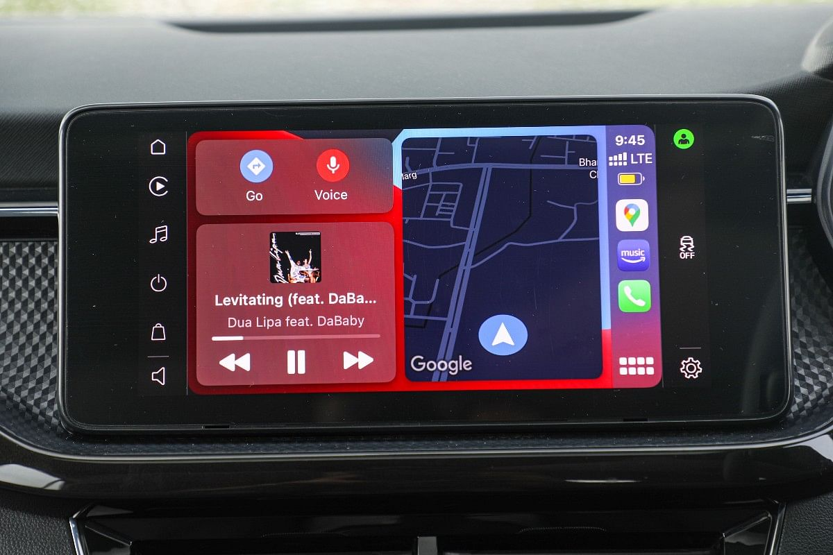 The infotainment unit packs in wireless Apple CarPlay and Android Auto