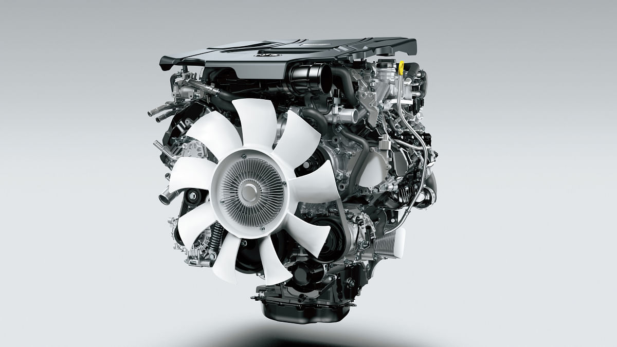 The newly developed V6 twin-turbo engine