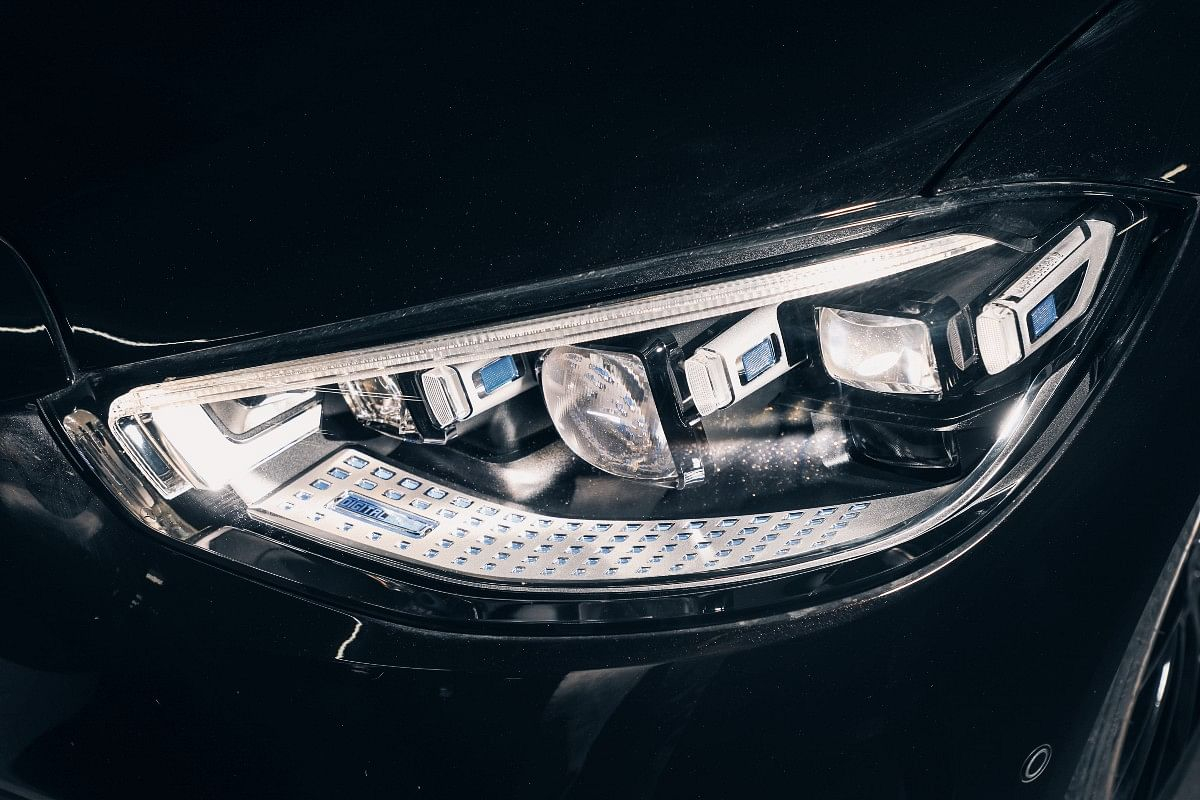 The S-Class gets LED headlights with Multibeam technology