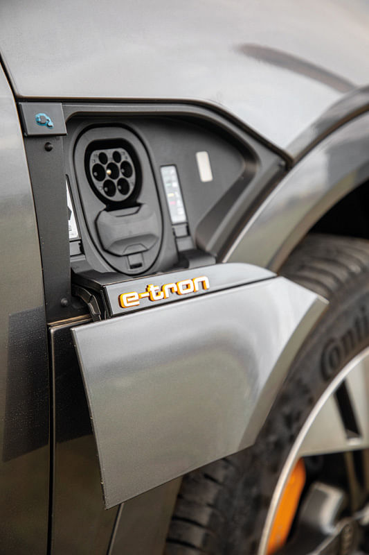 The e-tron is equipped with CCS and Type 2 charging connectors