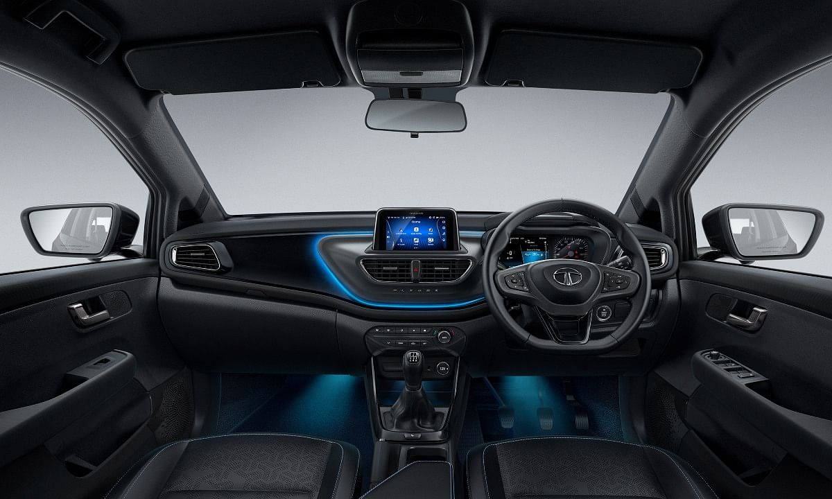 Blue ambient lighting available on the Altroz