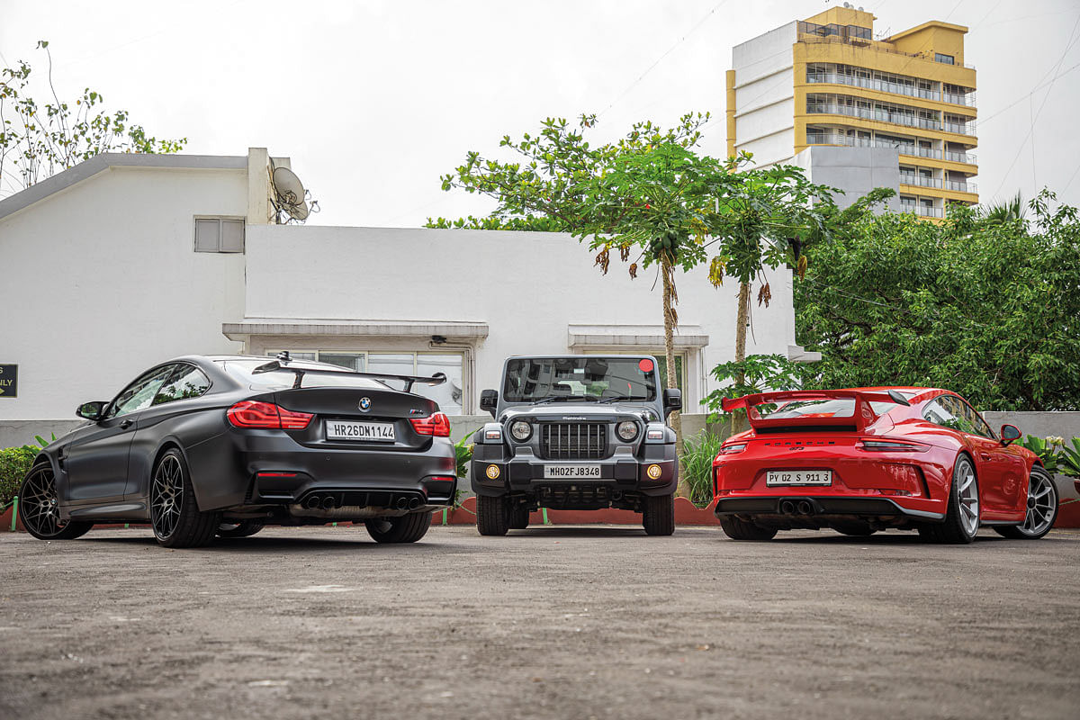 Apart from the Mahindra Thar, Doc also owns the only M4 Competition in India