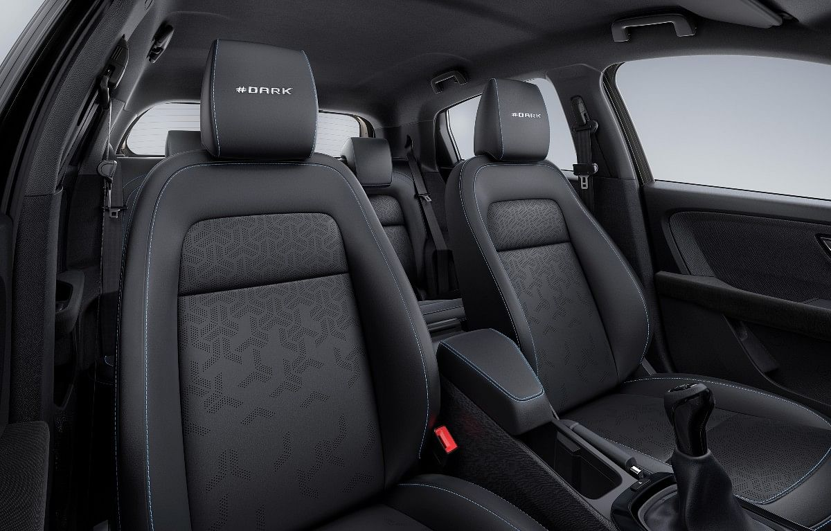 The Altroz Dark receives leatherette upholstery