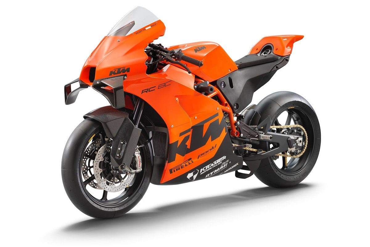 The KTM RC 8C sports Brembo discs on both ends