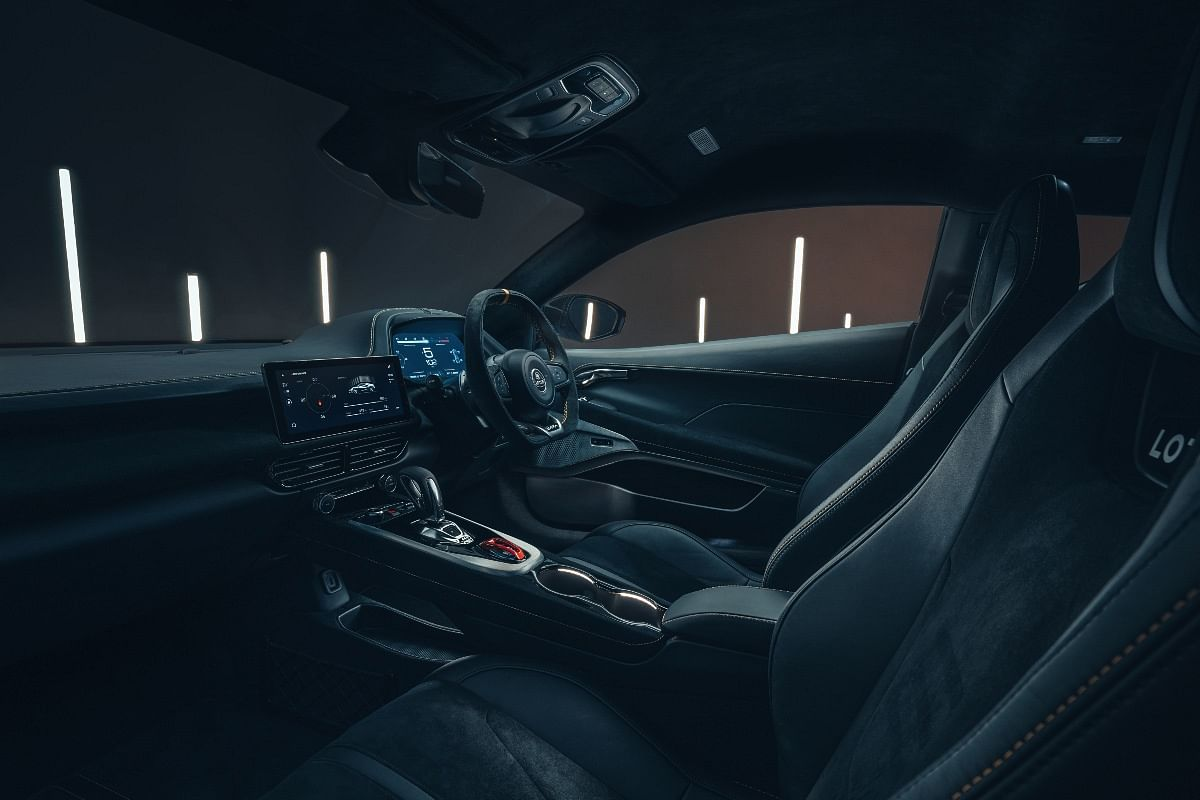 High-quality interiors consist of Alcantara leather upholstery