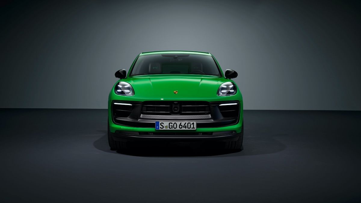 The Porsche Macan gets a redesigned front end...