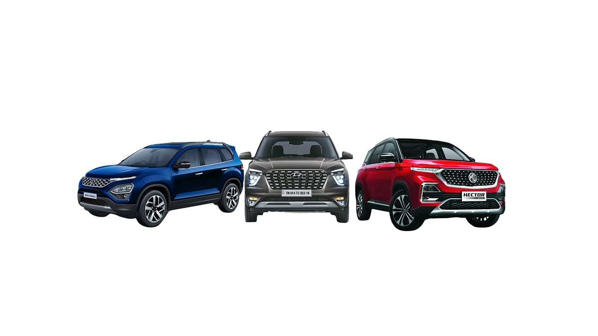 Hyundai Alcazar v Tata Safari v MG Hector Plus: Specification and price comparison