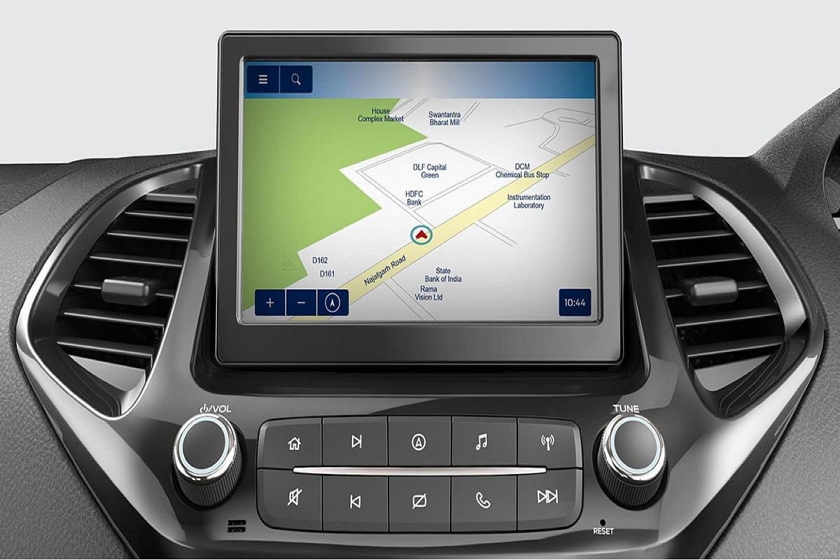The 7-inch infotainment system gets navigation as standard